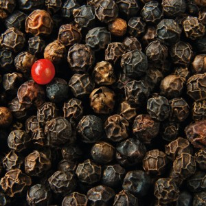 Black, and one red, peppercorns - 30pts