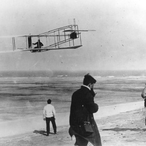 Brothers Orville and Wilbur Wright by John T. Daniels