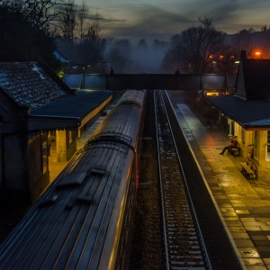 Bradford-on-Avon train station at Dusk