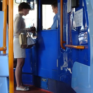 Paying the fare
