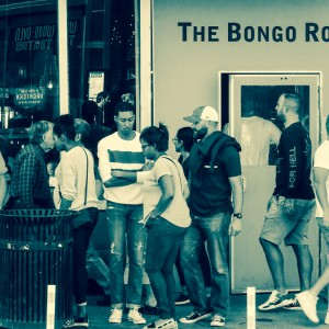 Waiting on the sidewalk for the Bongo Room to open