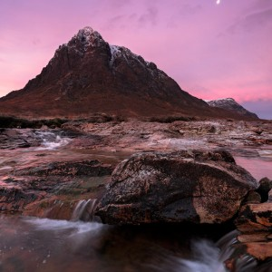 Pink over the Buachaille November 2019