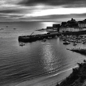 Tenby Harbour from the hill