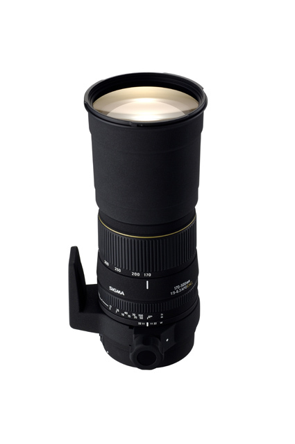 Sigma 170-500mm SLR lens zooms in
