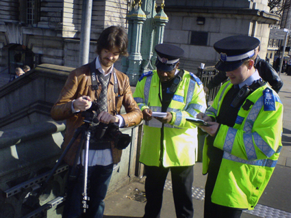 Police stop AP staff amid terrorism fears