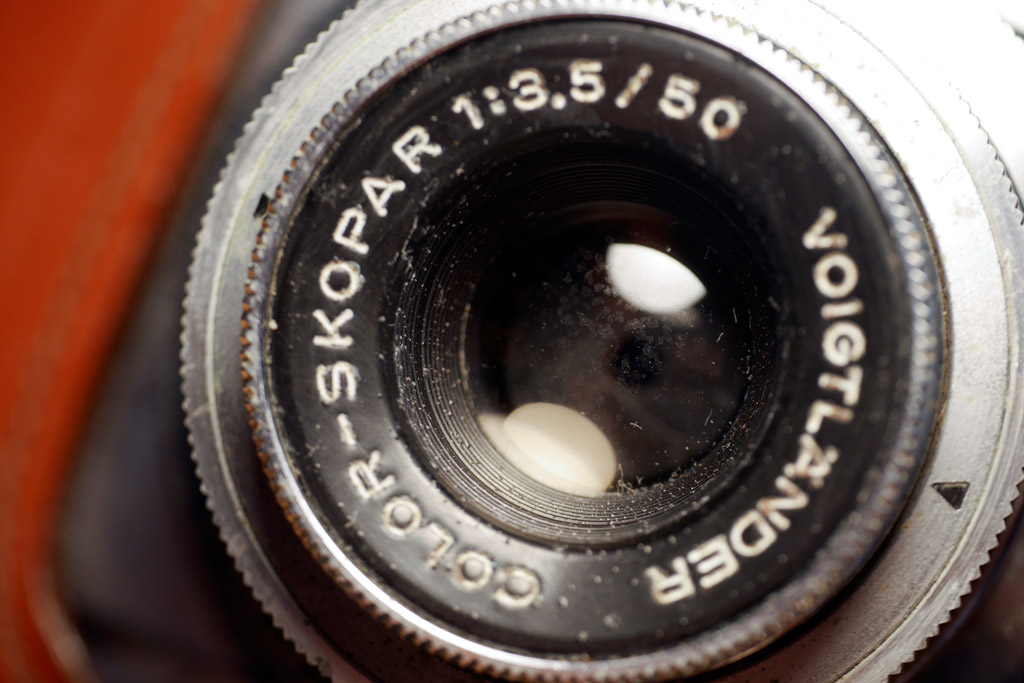 An old lens with mold / fungus on the front element
