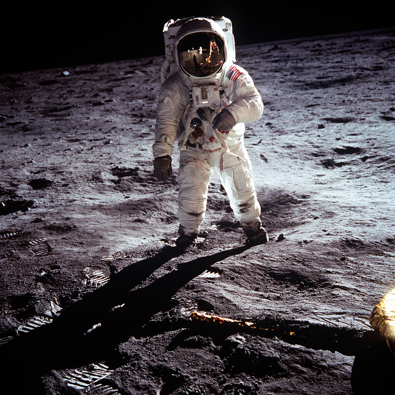 Man on the Moon - Neil Armstrong Iconic Photograph