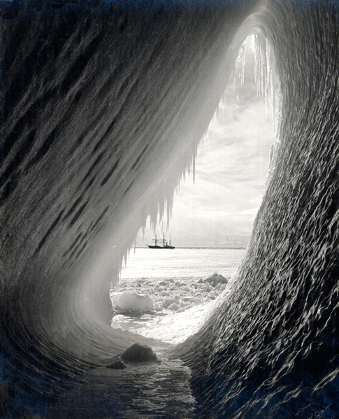 Grotto in an Iceberg by Herbert Ponting – Iconic Photograph
