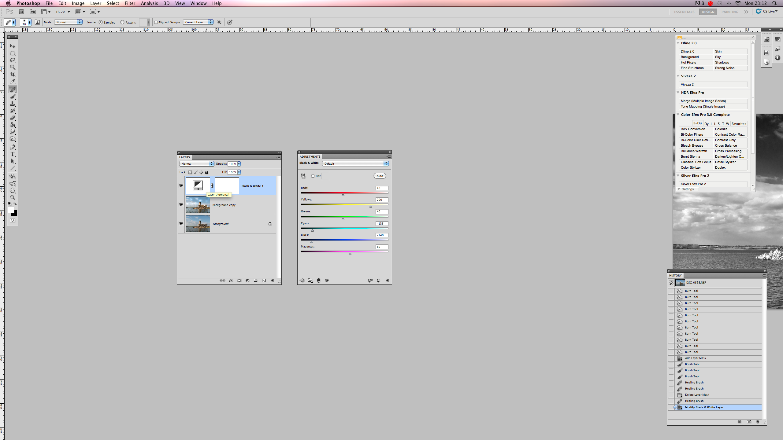 Create black and white images in Photoshop