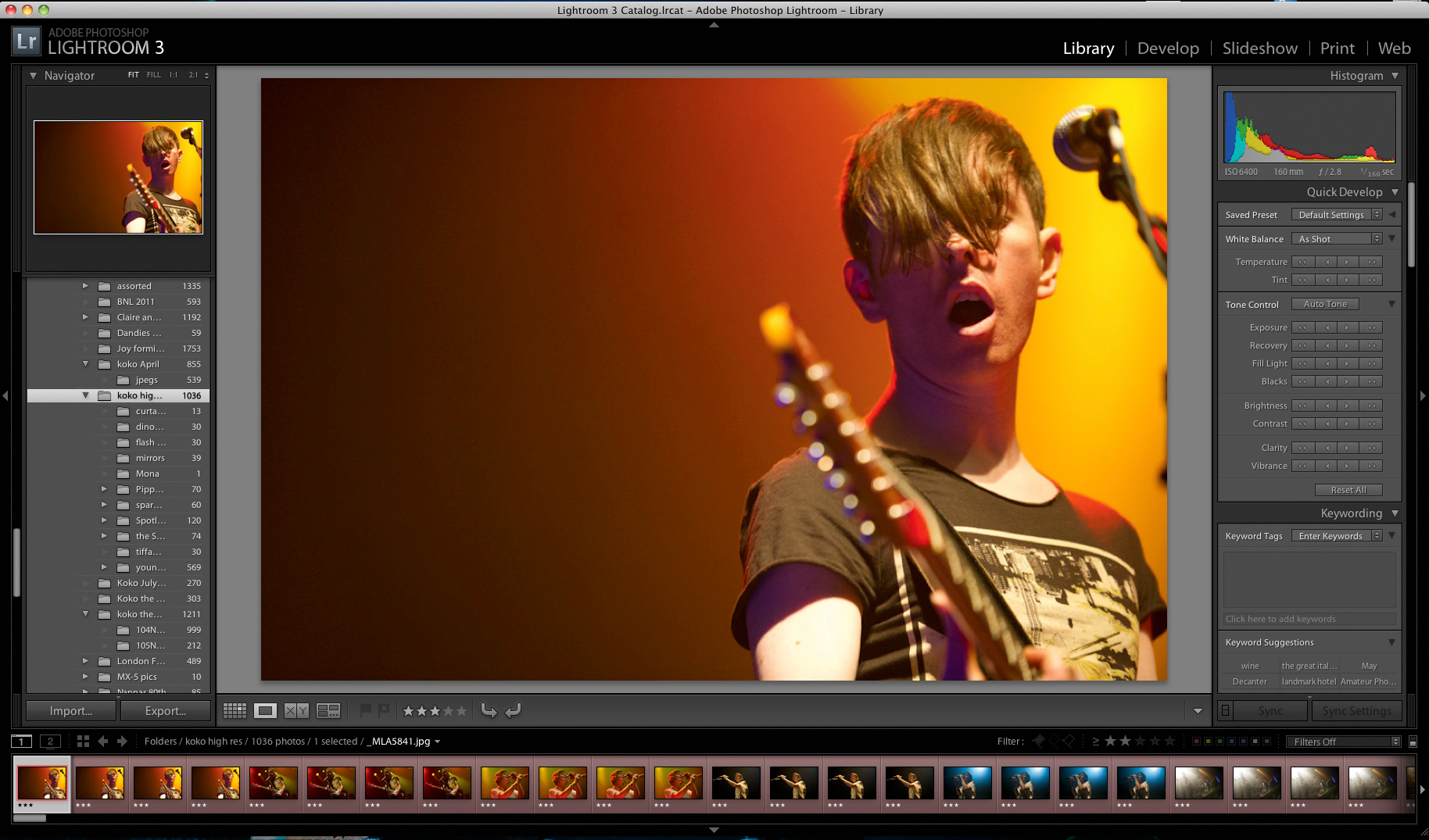 How to shoot live music