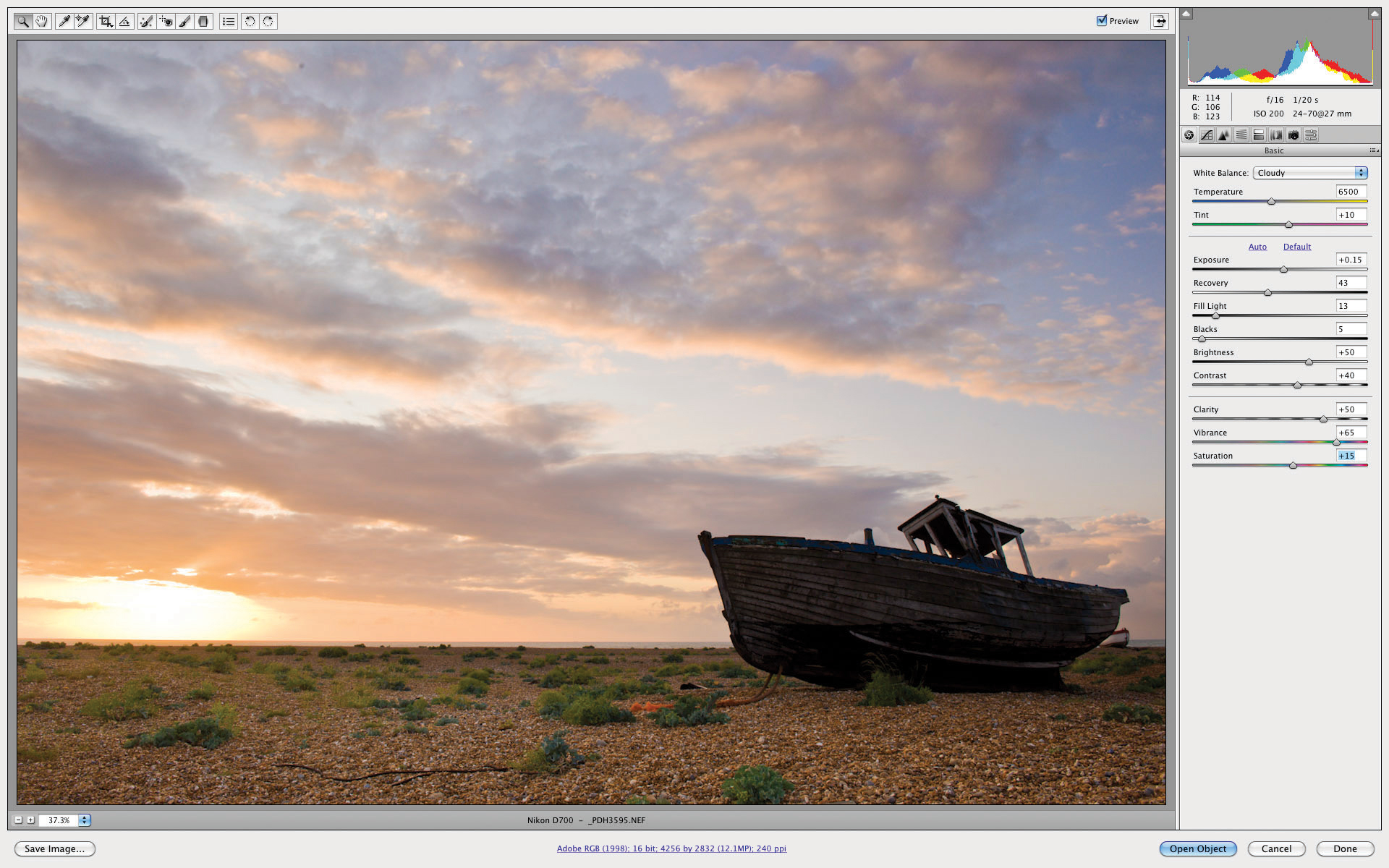How to convert a raw file with Adobe Camera Raw