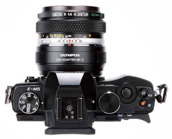 Second-hand Lenses Adapters: Olympus OM-D with OM adapter MF-2