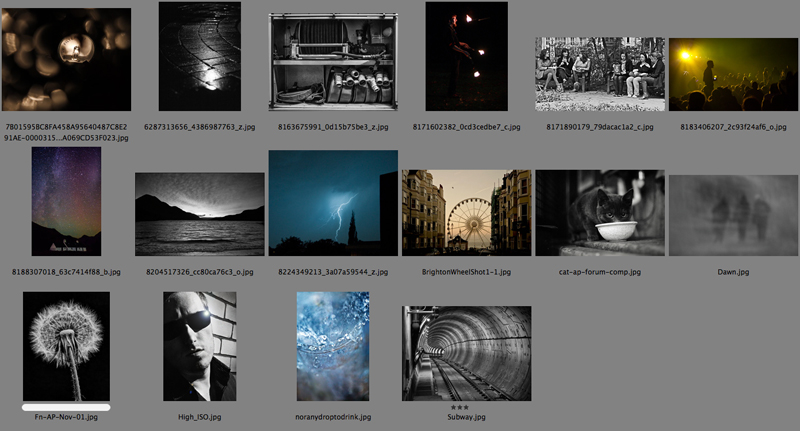 Amateur Photographer forum competition results for the November 2012 round. The theme was High ISO