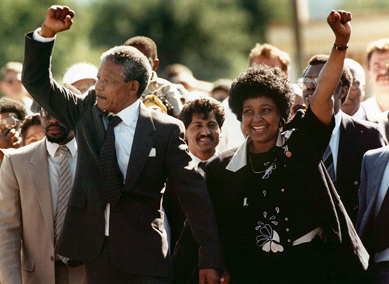 Nelson Mandela Released – Iconic Photograph
