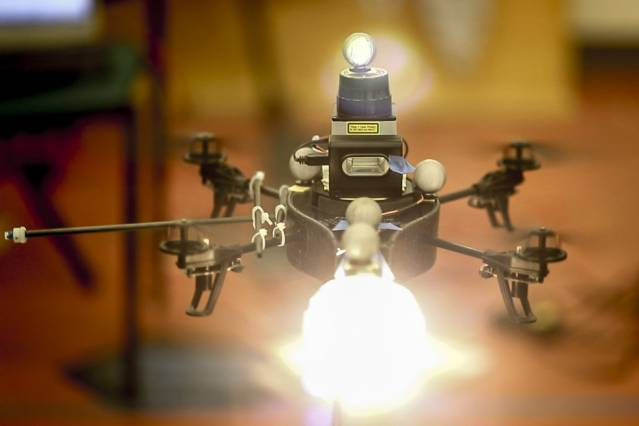 Studio lighting drone takes first flight