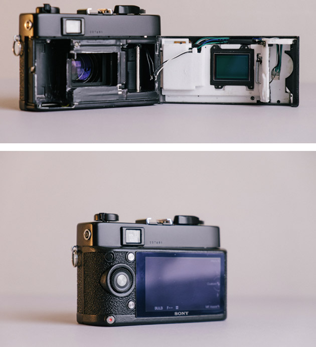 The result of the Konica/Sony DIY project, as seen on Ollie Baker's website