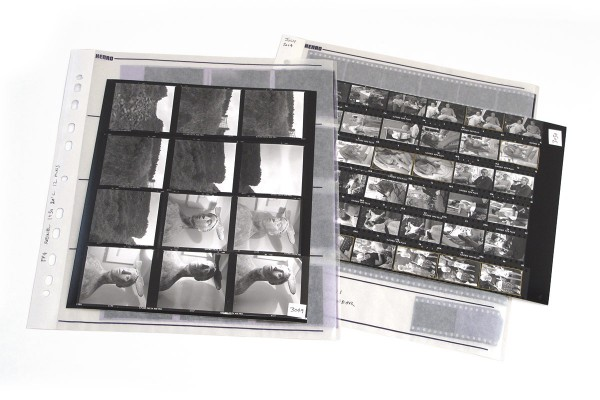 negatives and contact sheet - guide to darkroom printing