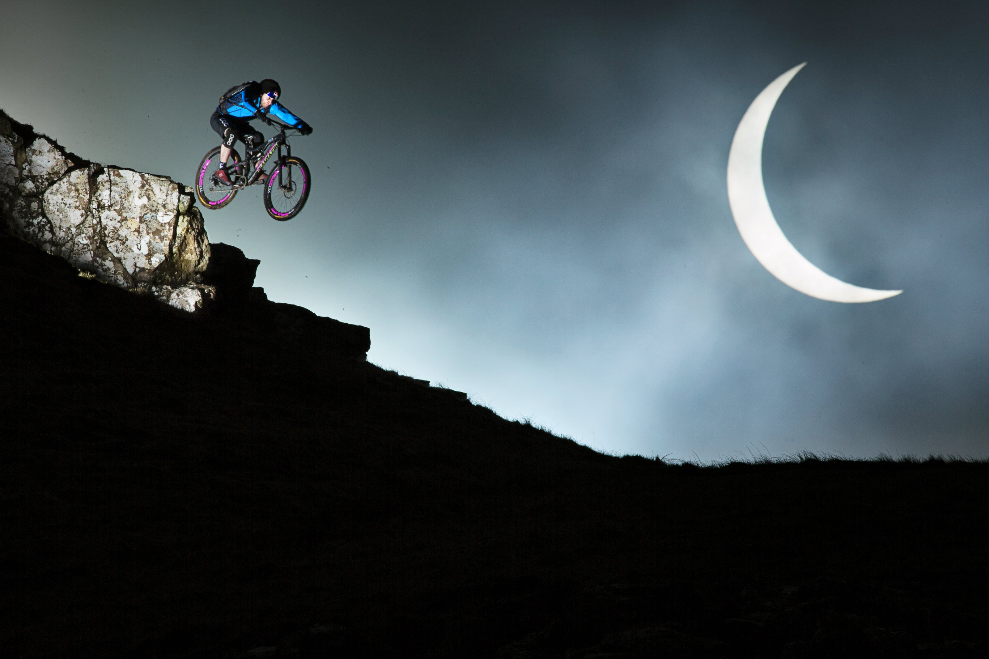 How cyclist Danny MacAskill created this incredibe eclipse shot