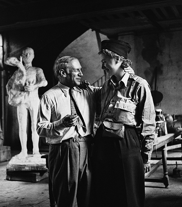 NC0002 1, Lee Miller and Picasso after the liberation of Paris, by Lee Miller, Paris, France, 1944.web
