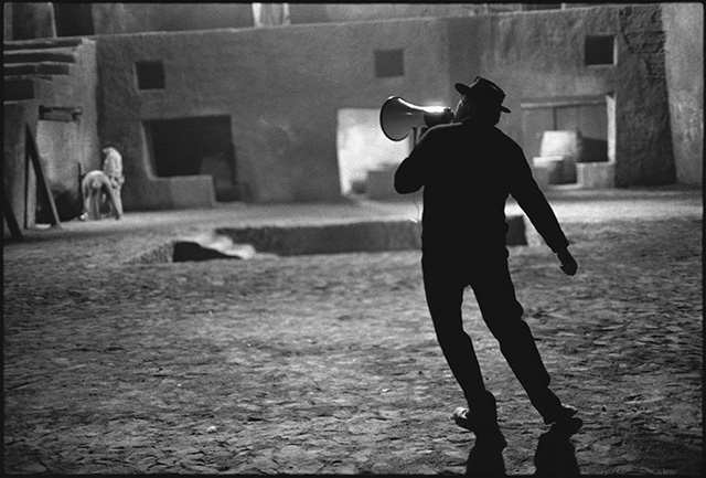 Federico Fellini on the Set of Satyricon, Rome, Italy, 1969