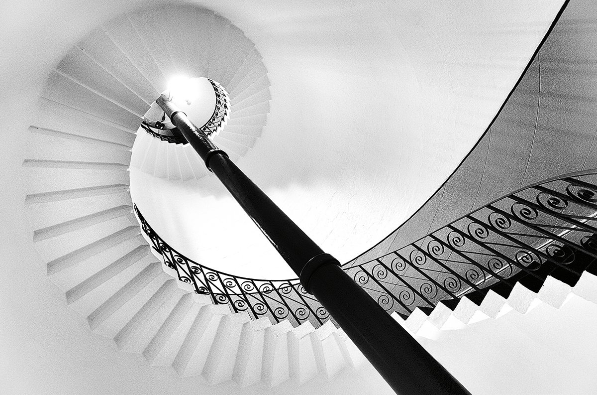 Photographing staircases