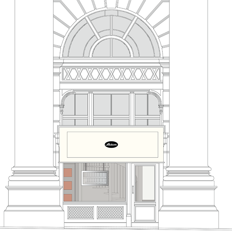 Leica Store City shop front illustration_small
