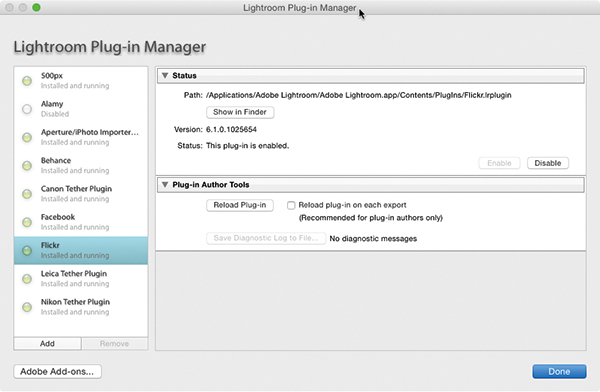 Lightroom Plug-In Manager---For-Export-page
