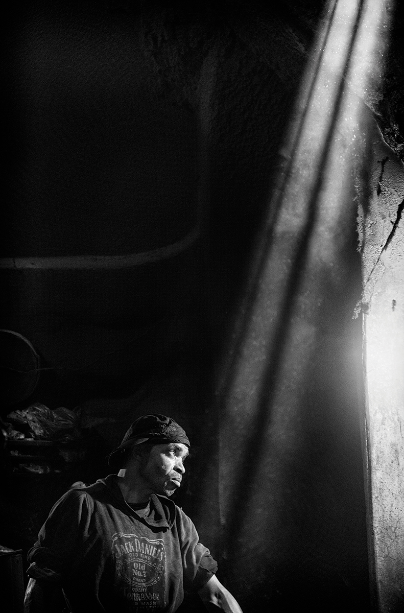 Dyer's Souk, Marrakech, Morocco. Black & white images have a stark simplicity. Canon EOS 5Ds, 24-70mm, 1/30sec @ f/4, ISO 3200