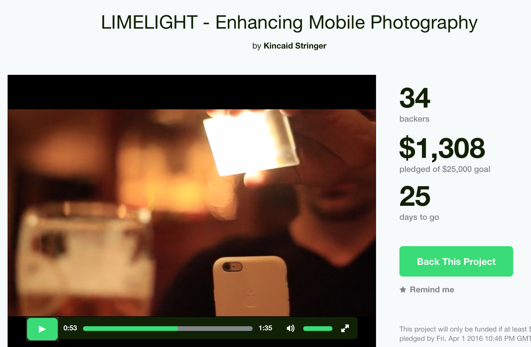 Credit card-sized light panel set to boost mobile photography and video