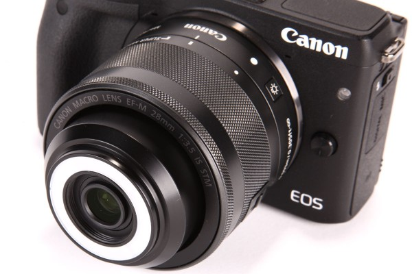 With its built-in macro light, The Canon EF-M 28mm f/3.5 Macro IS STM is a unique design