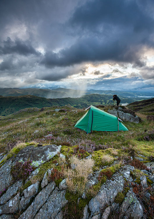 Wild camping means you're always ready for the conditions to come together for that shot you might otherwise miss