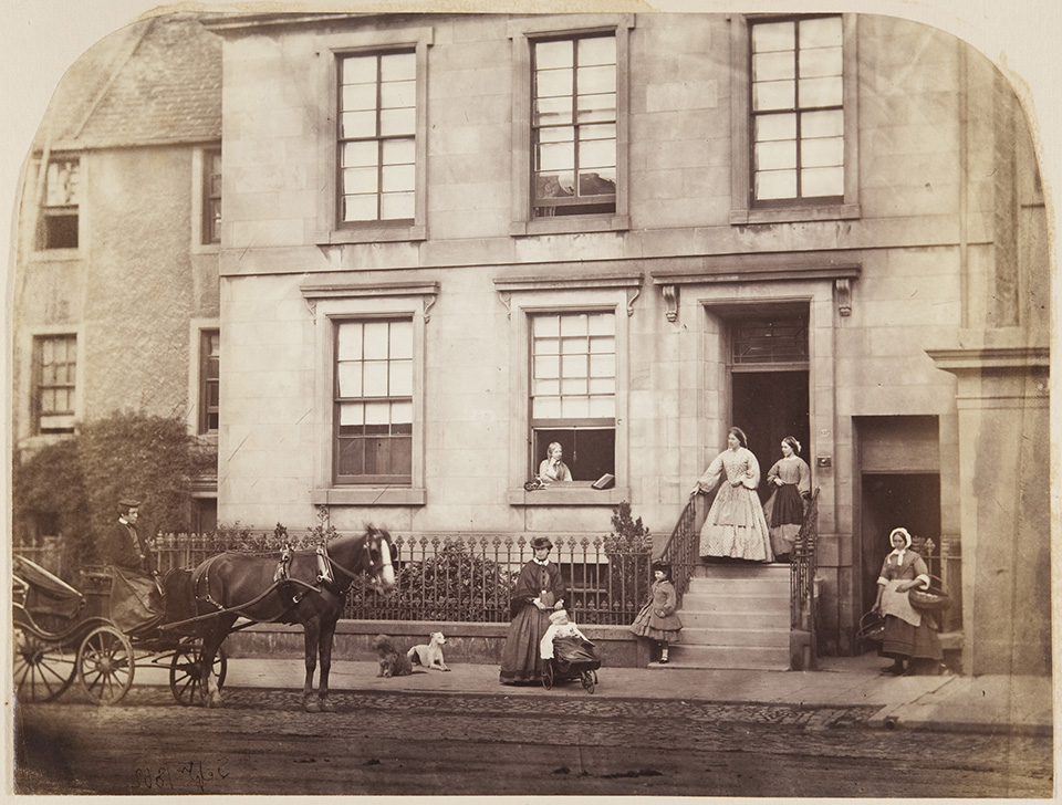 Dr John Adamson's home on South Street, St Andrews, 1862. By John Adamson.