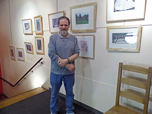 Michael Duke at a recent exhition of his work