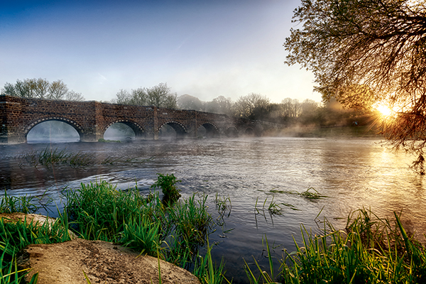 Often cited as the oldest bridge in Dorset, White Mill Bridge makes a brilliant location at sunrise