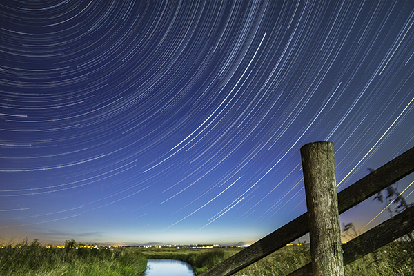 Photo insight with Robert Canis: Marsh and meteor shower under moonlight