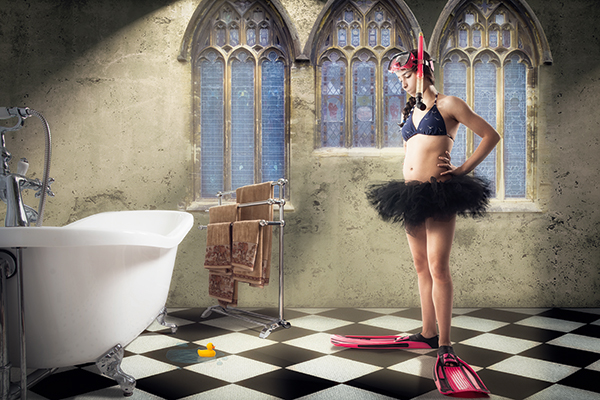 Creative Photoshop: Bath time By Don Fadel
