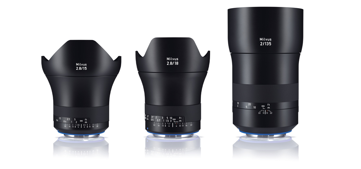 Zeiss expands Milvus line-up with three new lenses
