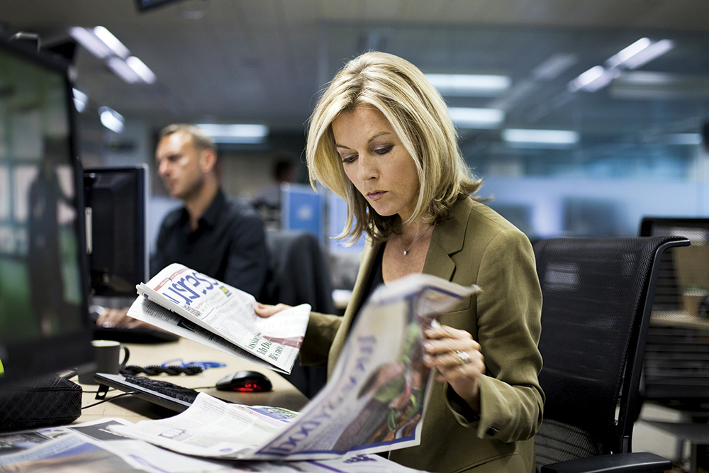 Harry Borden Mary Nightingale at her desk
