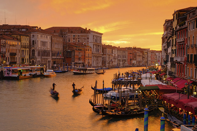 Pete Reed Sunset from the Rialto Venice