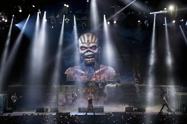 John McMurtrie Iron Maiden onstage in Mexico City