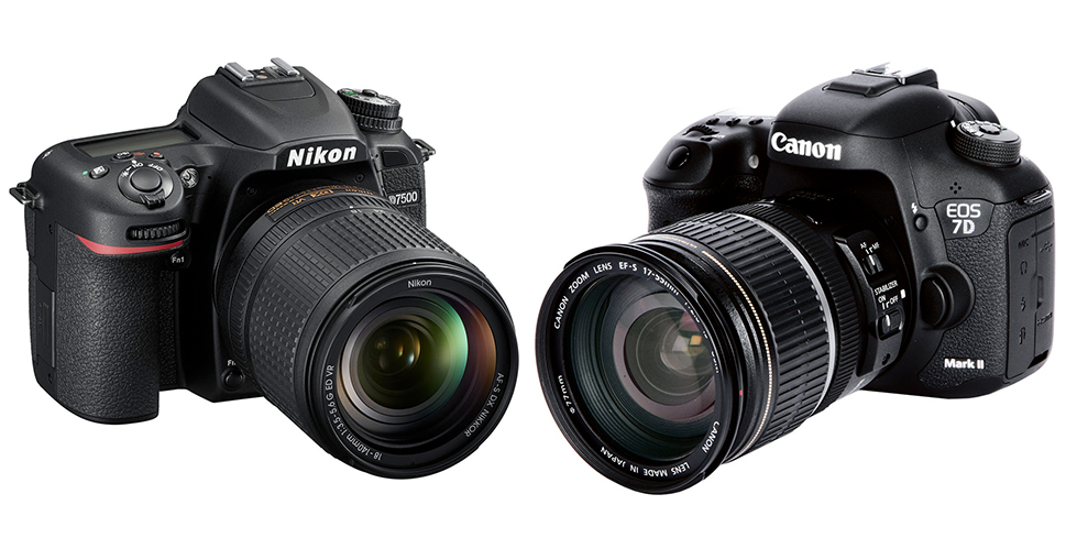 Nikon D7500 vs Canon EOS 7D Mark II