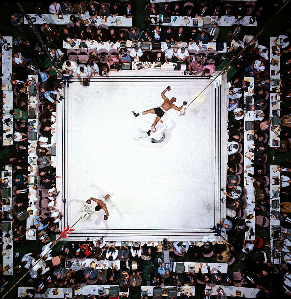 Neil Leifer Cleveland Williams and Muhammed Ali