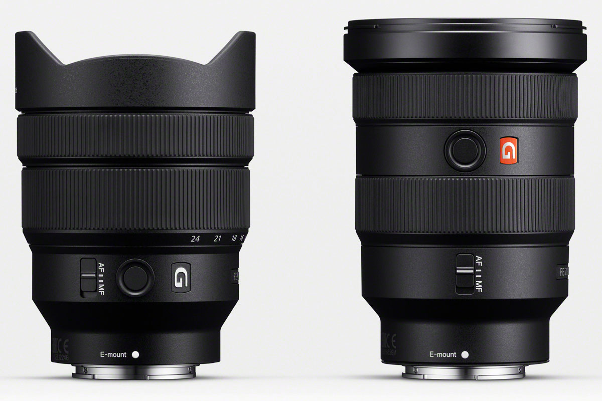 Sony FE 12-24mm F4 G and FE 16-35mm F2.8 GM