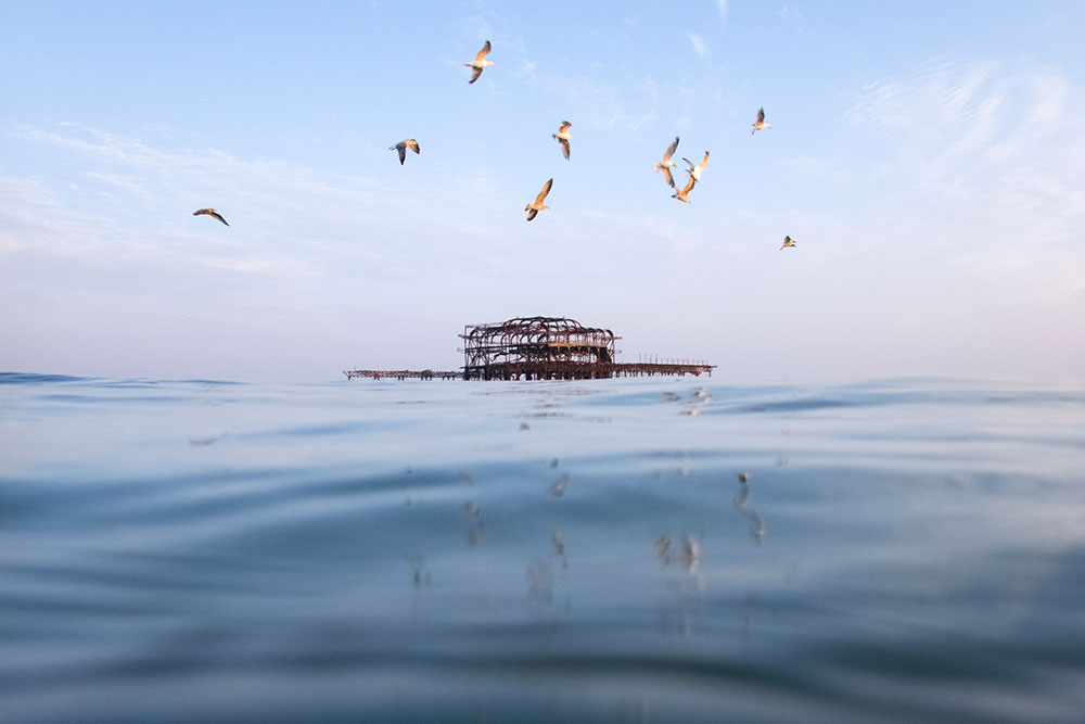 local heroes swimmers-eye view west pier