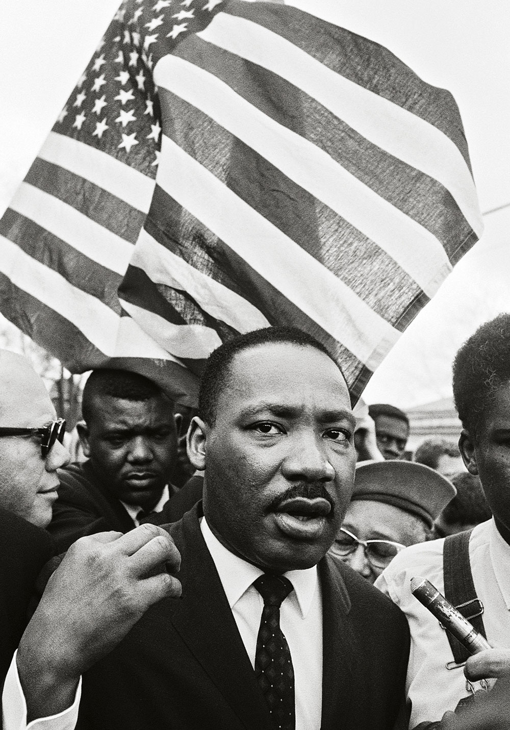 Steve Schapiro Martin Luther King on road to Montgomery
