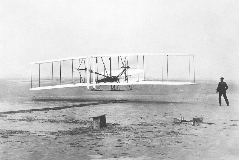 Wright Brothers' First Powered Flight – Iconic Photograph