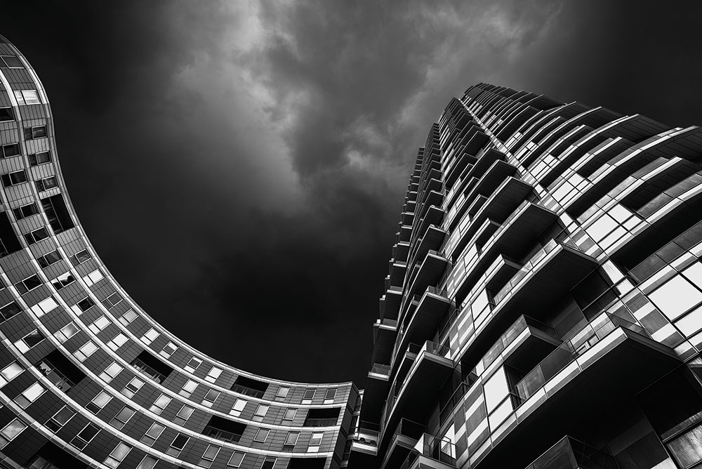 Monochrome residential building London