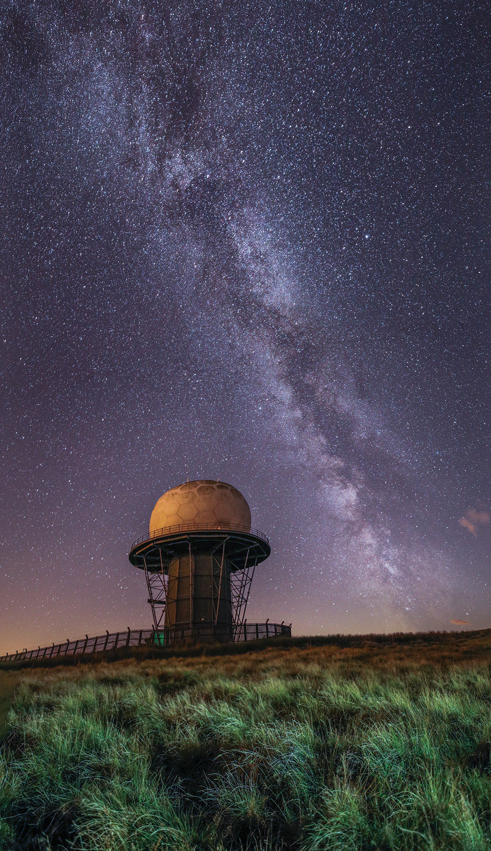 Milky Way panorama Clee Hill