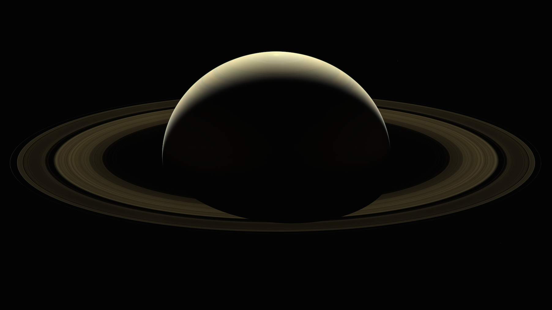 The last photograph of Saturn from NASA's Cassini mission released