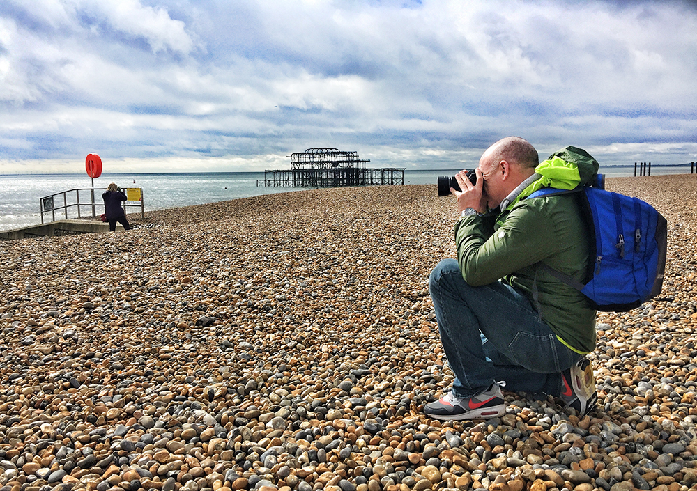 Participants on the AP/Olympus Brighton Photo Walk in March 2018